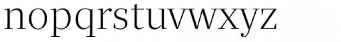 Quercus Serif Light Font LOWERCASE