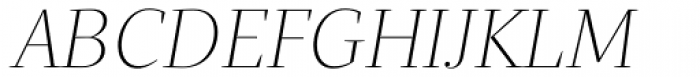 Quercus Serif Thin Italic Font UPPERCASE