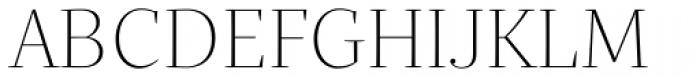 Quercus Serif Thin Font UPPERCASE