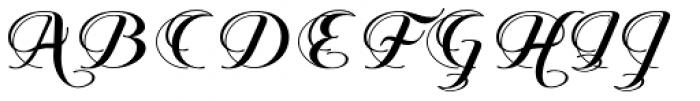 Querida Normal Font UPPERCASE