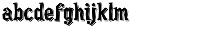Quesadilla Shadow Font LOWERCASE
