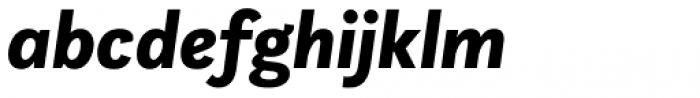 Questa Sans Black Italic Font LOWERCASE