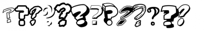 Questionable Things Font UPPERCASE