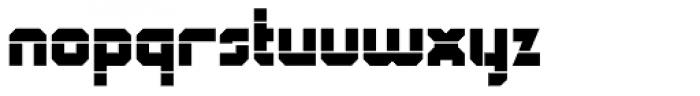 QueueBrick Open Black Font LOWERCASE