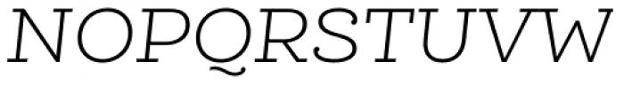 Queulat Alt Light Italic Font UPPERCASE