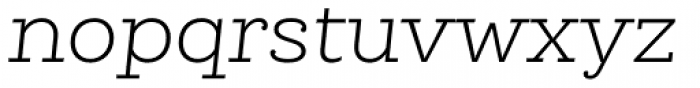 Queulat Alt Light Italic Font LOWERCASE