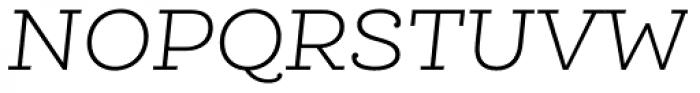 Queulat Light Italic Font UPPERCASE