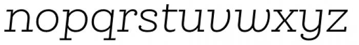 Queulat Light Italic Font LOWERCASE