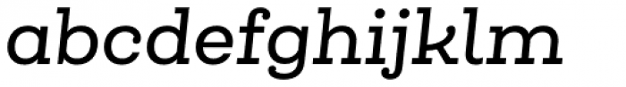 Queulat Medium Italic Font LOWERCASE