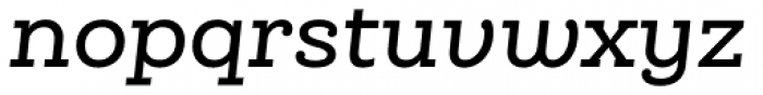 Queulat Medium Italic Font LOWERCASE