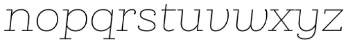 Queulat Thin Italic Font LOWERCASE