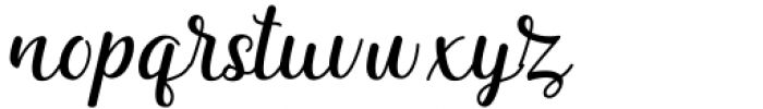 Quezal Regular Font LOWERCASE