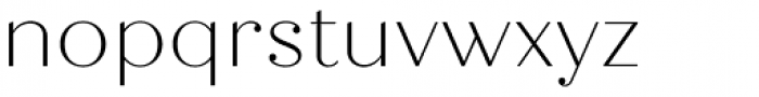 Quiche Display Thin Font LOWERCASE