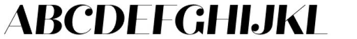 Quiche Fine Extra Bold Italic Font UPPERCASE