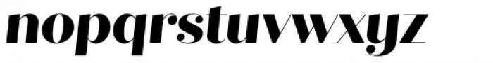 Quiche Fine Extra Bold Italic Font LOWERCASE