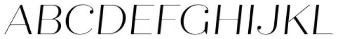 Quiche Fine Light Italic Font UPPERCASE