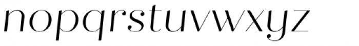 Quiche Fine Light Italic Font LOWERCASE