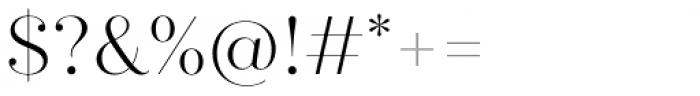 Quiche Fine Light Font OTHER CHARS