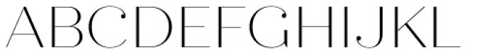 Quiche Fine Thin Font UPPERCASE