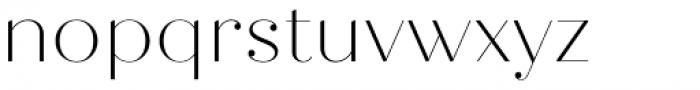 Quiche Fine Thin Font LOWERCASE