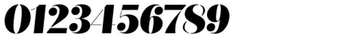 Quiche Stencil Black Italic Font OTHER CHARS