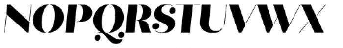 Quiche Stencil Black Italic Font UPPERCASE