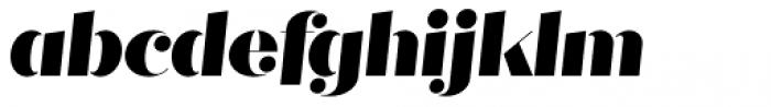 Quiche Stencil Black Italic Font LOWERCASE