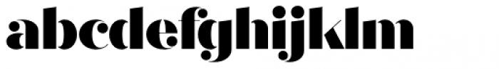 Quiche Stencil Black Font LOWERCASE