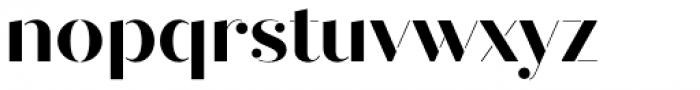 Quiche Stencil Bold Font LOWERCASE