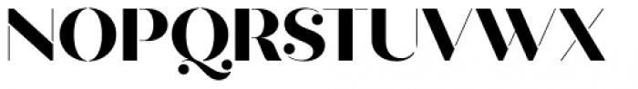 Quiche Stencil Extra Bold Font UPPERCASE