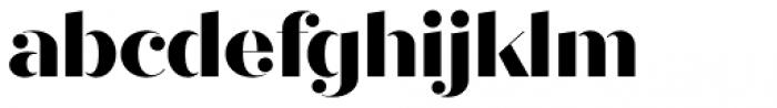 Quiche Stencil Extra Bold Font LOWERCASE