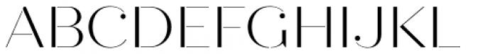 Quiche Stencil Light Font UPPERCASE