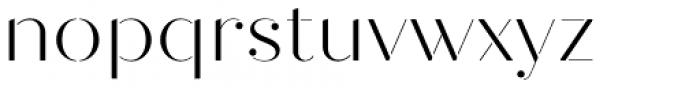 Quiche Stencil Light Font LOWERCASE