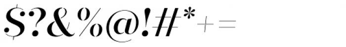 Quiche Stencil Medium Italic Font OTHER CHARS