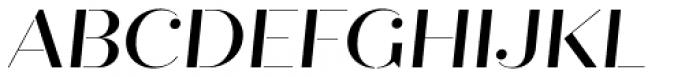 Quiche Stencil Medium Italic Font UPPERCASE
