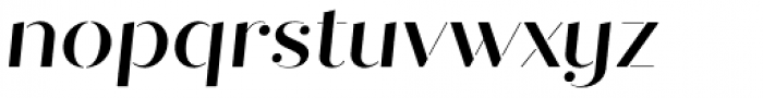 Quiche Stencil Medium Italic Font LOWERCASE