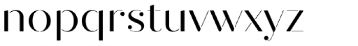 Quiche Stencil Regular Font LOWERCASE
