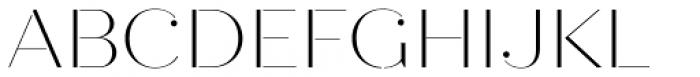 Quiche Stencil Thin Font UPPERCASE