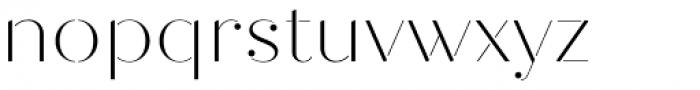 Quiche Stencil Thin Font LOWERCASE
