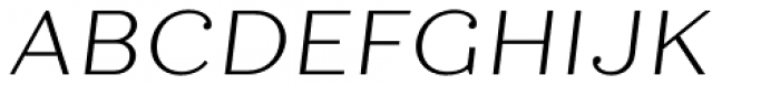 Quiche Text Light Italic Font UPPERCASE