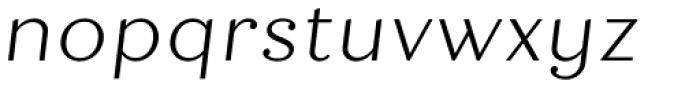 Quiche Text Light Italic Font LOWERCASE