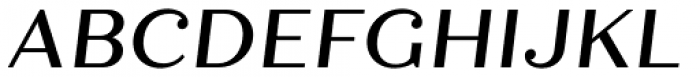 Quiche Text Medium Italic Font UPPERCASE