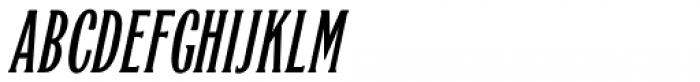 Quick Meal Oblique Font UPPERCASE
