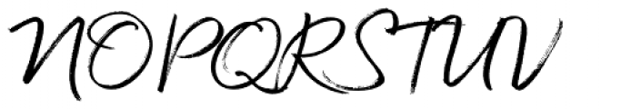 Quickbrush Font UPPERCASE