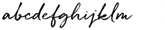 Quickbrush Font LOWERCASE