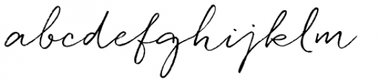 Quickpen Font LOWERCASE