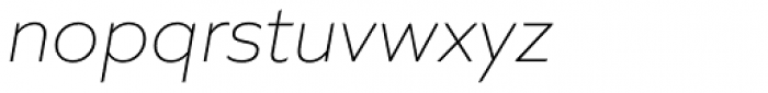 Quiet Sans Extra Light Italic Font LOWERCASE