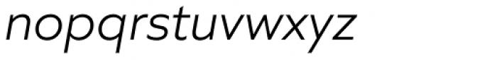 Quiet Sans Light Italic Font LOWERCASE