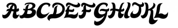 Quiff Italic Font UPPERCASE