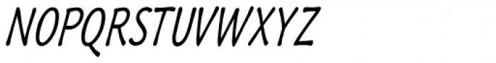 Quiffed Bold Condense Oblique Font UPPERCASE
